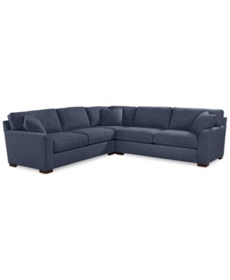 """Carena 3-Pc. Fabric """"L"""" Shaped Sectional Sofa - Custom Colors, Created for Macy's"""