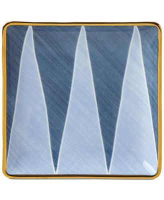 Luca Blue Azzurro Angles Tidbit Plate