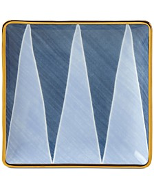 Lenox Luca Blue Azzurro Angles Tidbit Plate