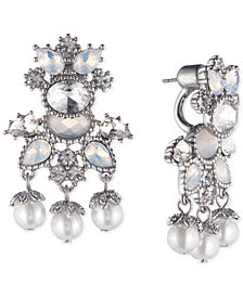 Marchesa Gold-Tone Crystal & Bead Drop Earrings, Created for Macy's