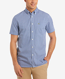 Lacoste Men's Gingham Poplin Shirt