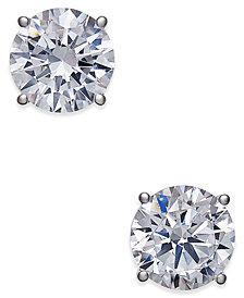 Certified Diamond Stud Earrings (2 ct. t.w.) in 18k White Gold