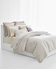 CLOSEOUT! Lauren Ralph Lauren Alene Cotton Percale Reversible Metallic Jacquard 3-Pc. Full/Queen Duvet Cover Set