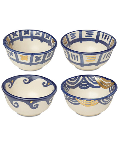 Crafted by Wainwright Pompeii Blu 4-Pc. Dip Bowl Set, Created for Macy's