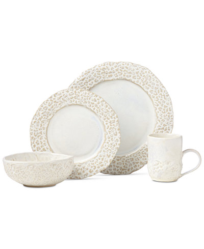 Crafted by Wainwright Boho Earth 4-Piece Place Setting, Created for Macy's