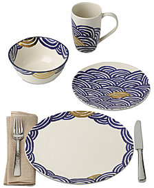 Lenox-Wainwright Pompeii Blu Sea Dinnerware Collection Created for Macy's