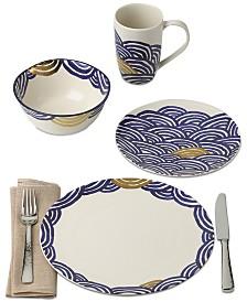 Lenox-Wainwright Pompeii Blu Sea Dinnerware Collection Created for Macy's
