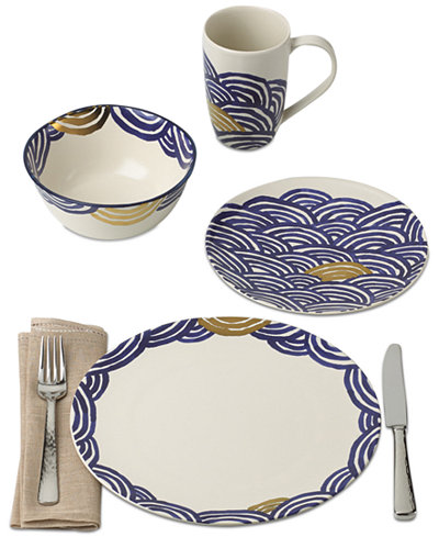 Crafted by Wainwright Pompeii Blu Sea Dinnerware Collection Created for Macy's