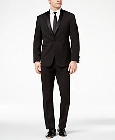 Men's Ready Flex Slim-Fit Stretch Black Shawl-Lapel Tuxedo