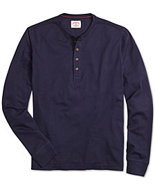 Brooks Brothers Men's Red Fleece Garment-Dyed Henley