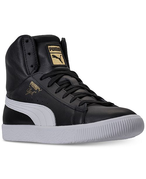fc872750550 Puma Men s Clyde Core Mid Core Foil Casual Sneakers from Finish Line ...