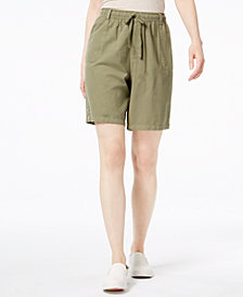 Karen Scott Pull-On Cotton Shorts, Created for Macy's