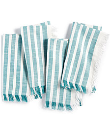 CLOSEOUT! Bardwil Madison Teal 4-Pc. Cotton Napkin Set