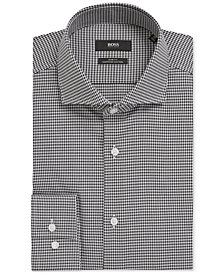 BOSS Men's Slim-Fit Puppytooth Cotton Dress Shirt