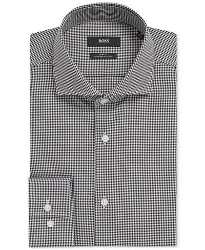 BOSS Men's Slim-Fit Puppytooth Cotton Dress Shirt