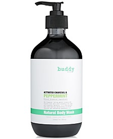 buddy scrub Activated Charcoal & Peppermint Natural Body Wash, 16.9 fl oz.