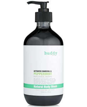 Buddy Scrub Activated Charcoal  Peppermint Natural Body Wash 169 fl oz