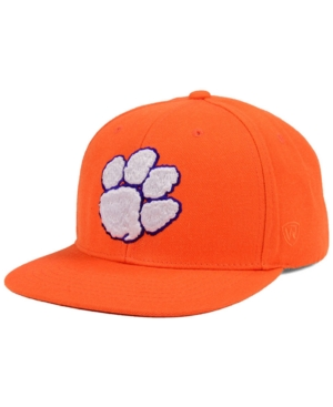 official photos 8cfd5 72284 Top of the World Clemson Tigers Extra Logo Snapback Cap