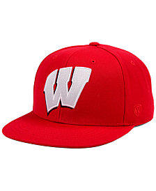 Top of the World Wisconsin Badgers Extra Logo Snapback Cap