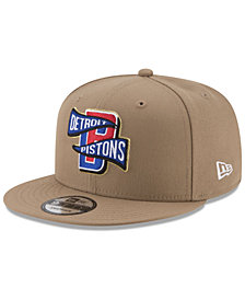 New Era Detroit Pistons Team Banner 9FIFTY Snapback Cap