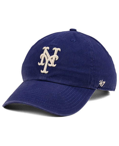 '47 Brand New York Mets Timber Blue CLEAN UP Cap