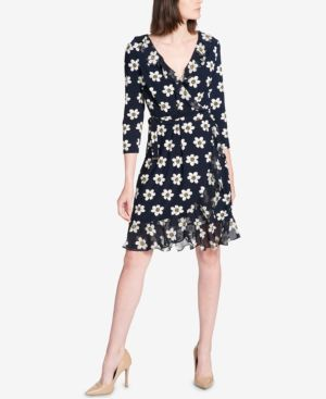 Tommy Hilfiger Ruffled Faux-Wrap Dress thumbnail