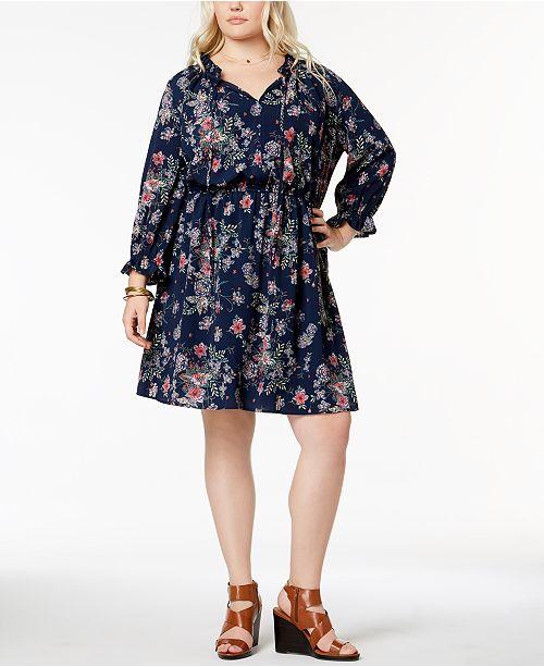 Love Squared Trendy Plus Size Peasant Dress Dresses Plus Sizes
