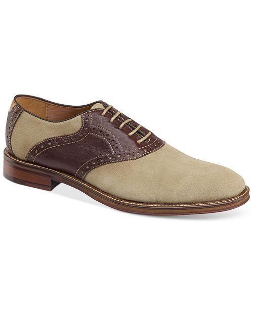 Johnston & Murphy Men's Warner Plain-Toe Lace-Up Oxfords Men's Shoes ZHop4csUyk