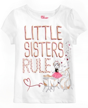 Epic Threads Little Sisters Rule TShirt Little Girls (46X) Created for Macys