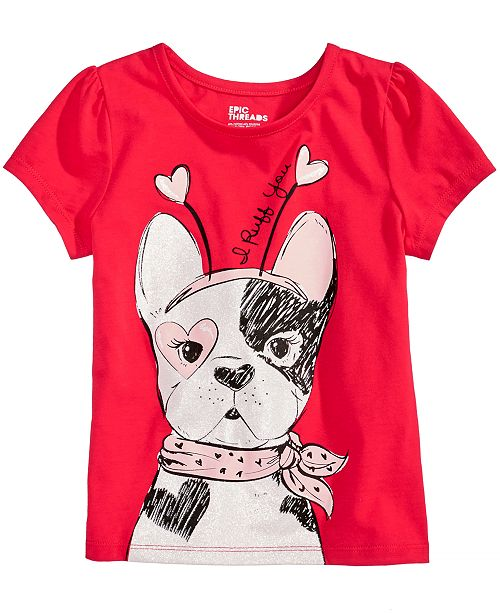 ce9f7eb42dc1 Epic Threads Puppy Dog T-Shirt, Little Girls, Created for Macy's ...