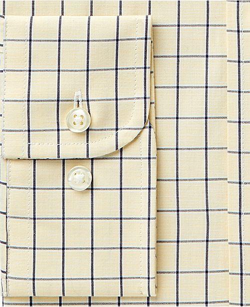 a8e0589509 ... Club Room Men's Classic/Regular Fit Performance Windowpane Dress Shirt,  Created for Macy's ...
