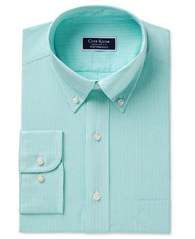 Club Room Men's Classic/Regular Fit Performance Bengal Stripe Dress Shirt, Created for Macy's