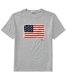 Ralph Lauren Graphic Cotton T-Shirt, Big Boys