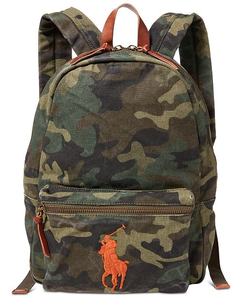 66b0c59ea7 Polo Ralph Lauren Men s Camouflage Canvas Backpack   Reviews - Bags ...