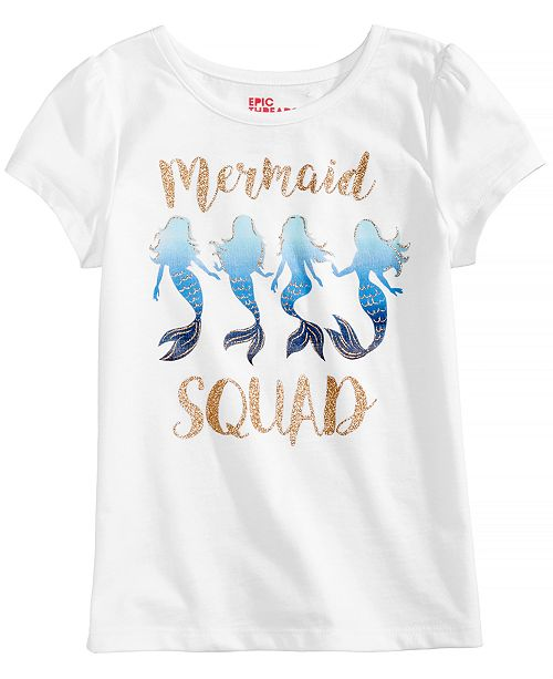 8b866b1f0609eb Epic Threads Mermaid Squad T-Shirt, Toddler Girls, Created for Macy's