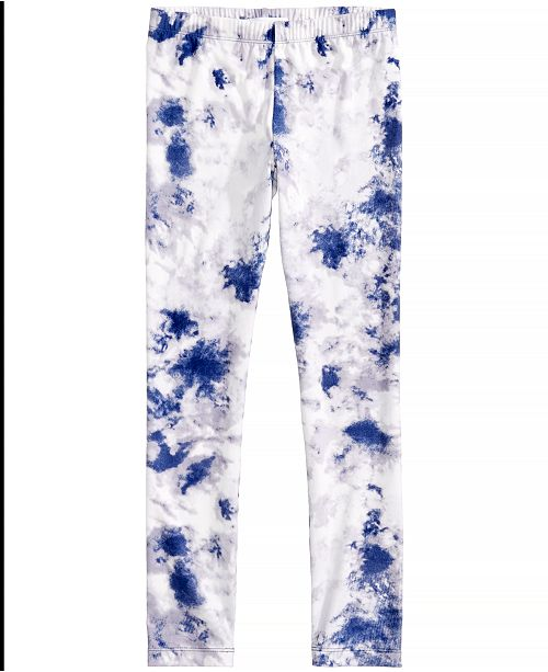 Epic Threads Tie-Dyed Printed Leggings, Big Girls, Created for Macy's