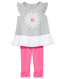 First Impressions Daisy Tunic & Bows Leggings, Baby Girls, Created for Macy's