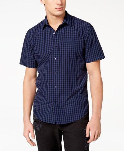 American Rag Men's Park Mini Check Shirt, Created for Macy's