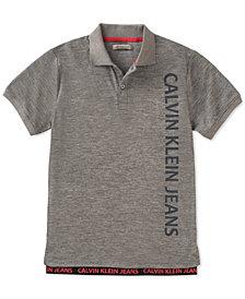 Calvin Klein Logo-Print Polo, Big Boys