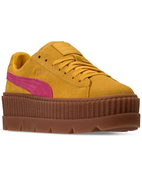 online retailer ae5be c94fa Puma Women's Fenty x Rihanna Suede Cleated Creeper Casual ...