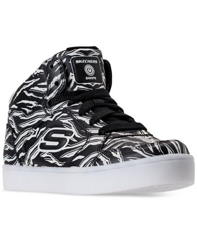 Skechers Big Boys' S Lights: Swipe Lights Energy Lights Light-Up High Top Casual Sneakers from Finish Line