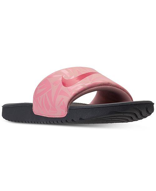 Nike Big Girls  Kawa Print Slide Sandals from Finish Line   Reviews ... 34f2e22a8