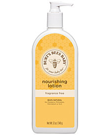 Burt's Bees Baby Bee Nourishing Lotion - Fragrance Free, 12 oz