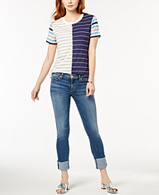 Hudson Jeans Tally Cuffed Crop Skinny Jeans