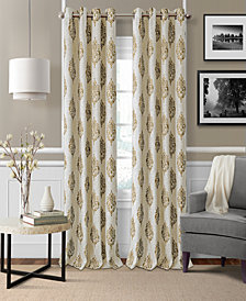 "Elrene Navara Medallion Blackout Linen 52"" x 95"" Window Panel"