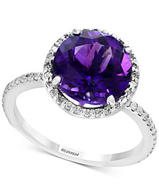 Final Call by EFFY® Amethyst (2-7/8 ct. t.w.) & Diamond (1/4 ct. t.w.) Ring in Sterling Silver
