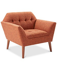 Nora Tufted Lounge Chair, Quick Ship
