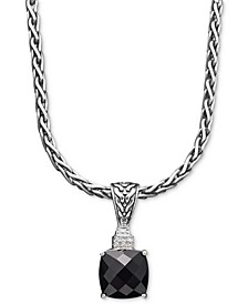Balissima by EFFY® Onyx (5-1/5 ct. t.w.) and Diamond Accent Pendant in Sterling Silver