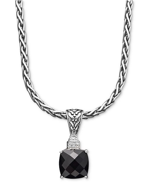 EFFY Collection Balissima by EFFY Onyx (5-1/5 ct. t.w.) and Diamond Accent Pendant in Sterling Silver