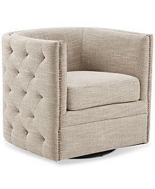 Catherine Swivel Tufted Chair, Quick Ship